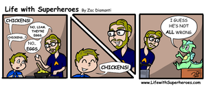 Life with Superheroes #11 by ZacAvalanche