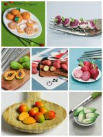 Week 3 of Daily Miniature Veggies and Fruits by PetitPlat