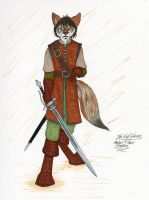 Red Wolf Warrior by LordFenrir