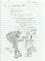 Doodling with my buddy :D by GirlinLuvAnime