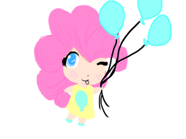 chibi pinkie by THEshortperson