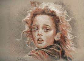 Girl portrait by barbaramj