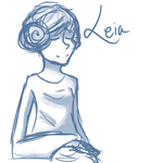 Disney-princess Leia by cleverlittleunicorn
