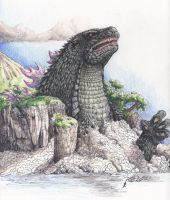 Godzilla I by SuperSaiyanGod-Zilla