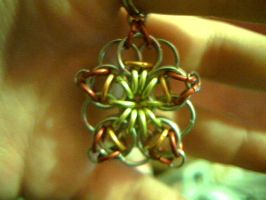 Flower pendant Flame by lunabellvarga