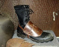 Leather Wasteland Boot Guard by DirtyandDistressed