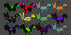 neon dogs FREE by k9kitty