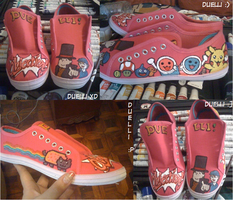 Objection with Prof.Layton SNEAKERS by duelli