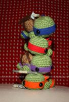 Teenage Mutant Ninja Turtles crochet by Cyntendo