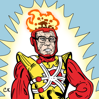 Bernie Sanders as Firestorm by LeevanCleefIII