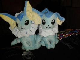 Two Cute Little Vaporeons by MishhMystery