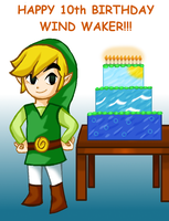 Wind Waker 10th Birthday by MissLink8908