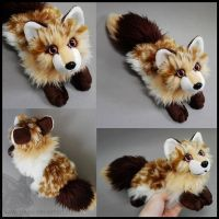 SOLD - Brown Cream spotted fox ~ Small floppy by goiku