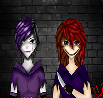 Bloodroot Lilith Y Merrie The Pain In Person by maria23creepypasta