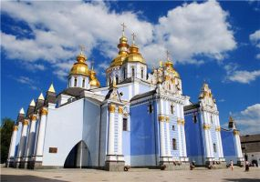 Golden domes in a blue sky by LatteIce