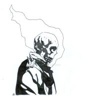 Mignola Style Ghost Rider by manson26