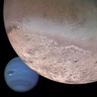 Neptune and Triton by Voyager3