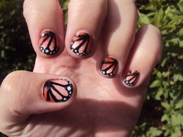 Monarch Nails by PetiteAngelou