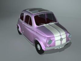 Pink Fiat 500 by Covet-17
