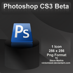 Photoshop CS3 Beta Dock Icon by Victomized