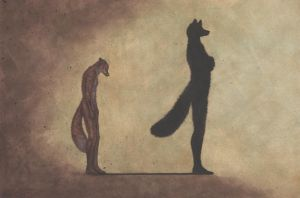 Standing in your own shadow by PanHesekielShiroi