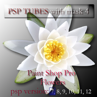 psp 7 flowers tubes with mask4 by feniksas4