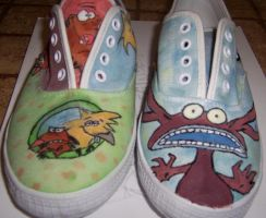 AHH angry shoes by Krizteeanity