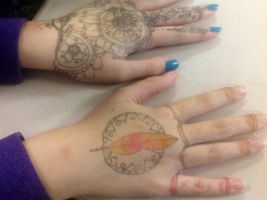 More hand art! by Anime-geek-ftw