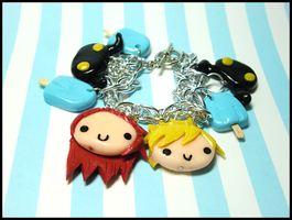 Axel/Roxas Themed Bracelet by GrandmaThunderpants