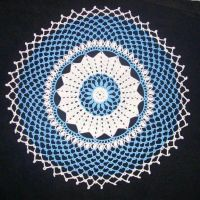 Blue and white doily by ladytech