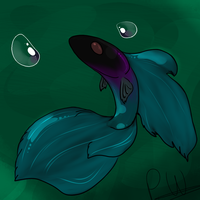 My new Fish, Teal by PuddingzWolf