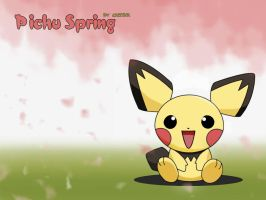Pichu Spring by CarinaT