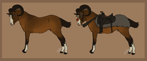 The Mongolian Riding Ram [Equus cornu] by Vox-Morda