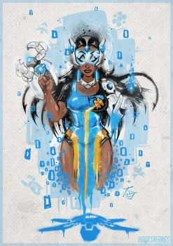 Symmetra Wall Mural by hooksnfangs