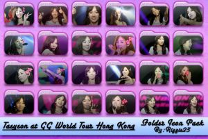 Taeyeon at GG World Tour HongKong Folder Icon Pack by Rizzie23