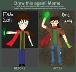 Draw This Again Meme -PMD Human Hart- by LadyDelaisol