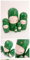 Christmas Tree Russian Dolls by ponychops