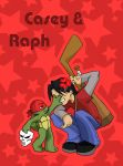 TMNT: Little Raph and Casey by NamiAngel