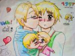 "UsUk ""Kiss me"" APH by chocopochi"