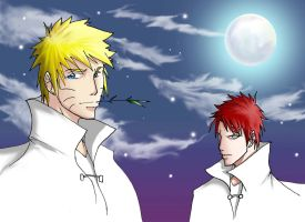 Naruto and Gaara by ihatecollege