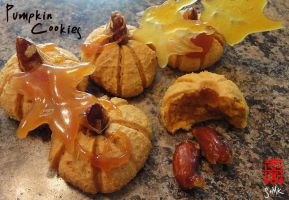 Pumpkin cookies by somk
