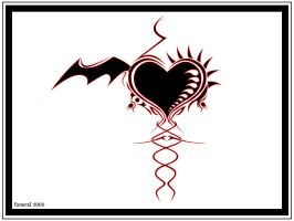 Devilian's Goth heart by funeral666