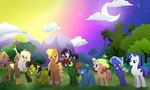 commission: Pony RP group by pbdq