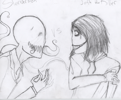 Jeff vs Slenderman by 69emptysouls