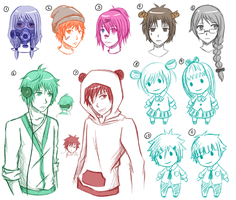 Sketchy Mix Adopts 2 15pts-60pts (sold out) by monochromatic-cafe