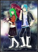 Grimmjow and Neliel - Rain by yaminita