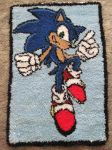 Sonic The Hedgehog Hook Rug by mandythebat
