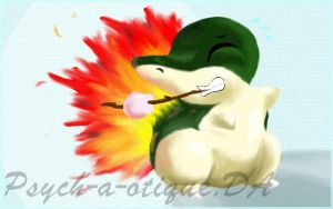 Cyndaquil wanna marshmallow... by Psych-a-otique