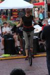 Female Model on Unicycle Stock 3 by BeccaB-323-STOCK