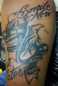Smile Now Because My Tattoo is Bad Ass pt.2 by patchwork-steve